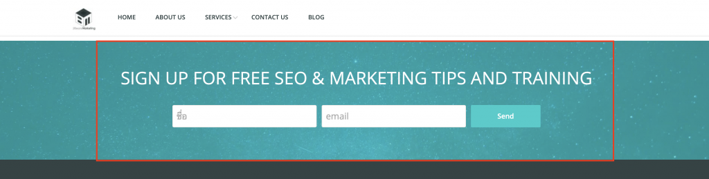 signup for seo & marketing tips