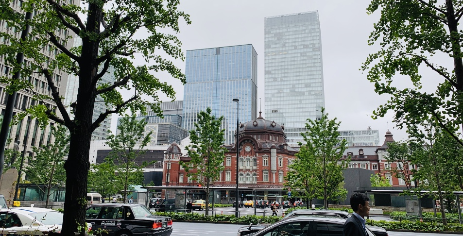 in front of tokyo station area