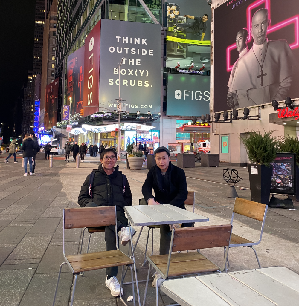 Ken Sitti in Time Square NYC 2020